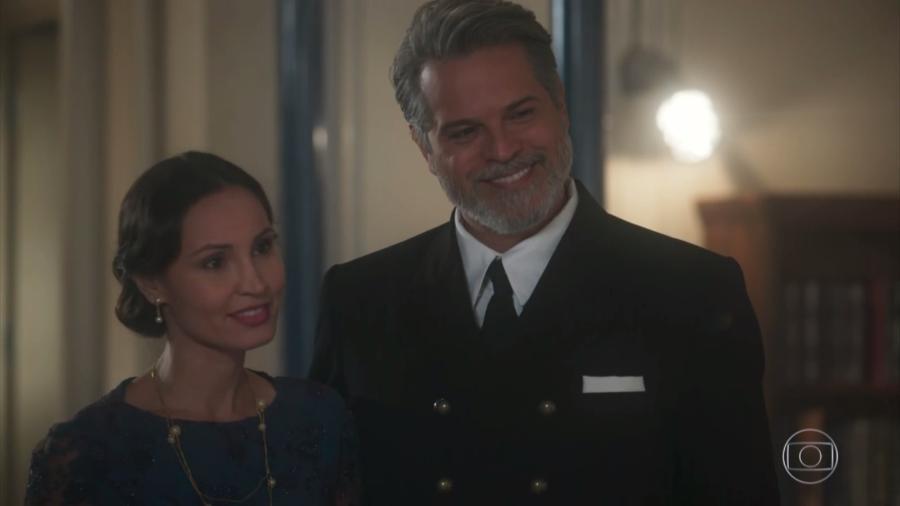 """Paola Rodrigues e Juan Alba em cena de """"Tempo de Amar"""" - Reprodução/TV Globo"""