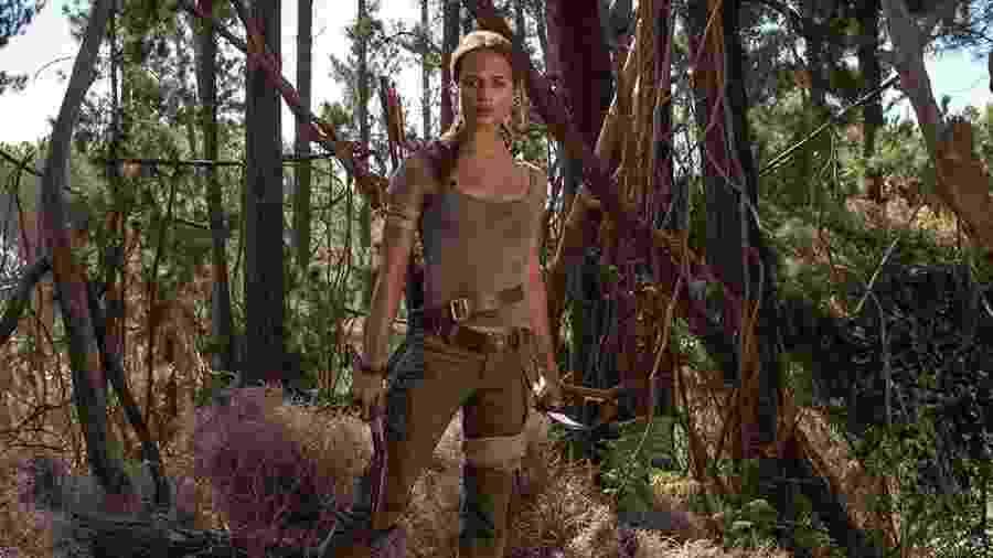 """Alicia Vikander é Lara Croft em """"Tomb Raider: A Origem"""", que será exibido hoje na Tela Quente - Divulgação"""