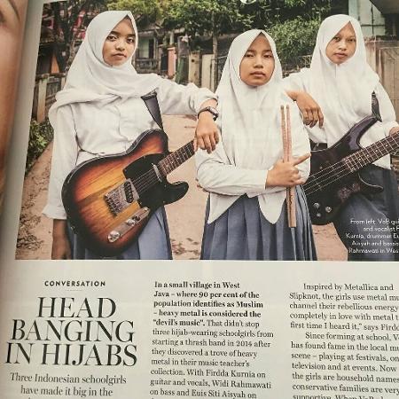 Jovens indonésias fazem sucesso com a banda Voice of Baceprot - Reprodução/Instagram