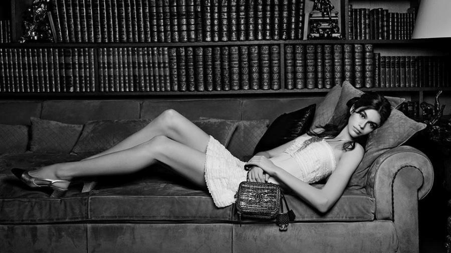 Kaia Gerber para a Chanel - Reprodução/Facebook