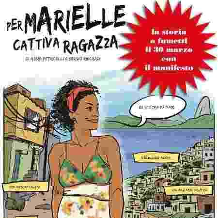 Marielle Franco em HQ de jornal italiano - Reprodução/Facebook