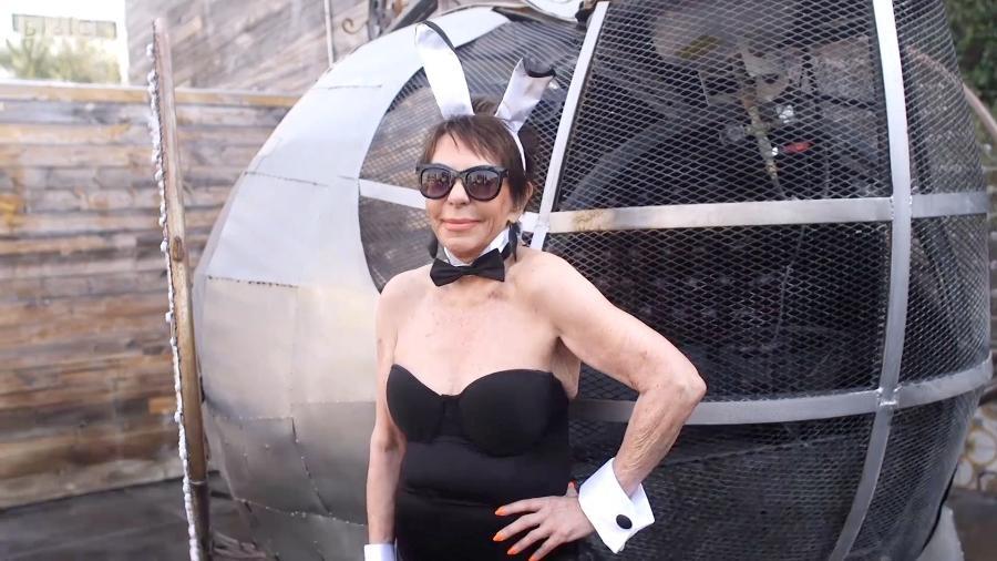 Dorrie Jacobson, modelo de lingerie aos 83 anos - Reprodução/BBC