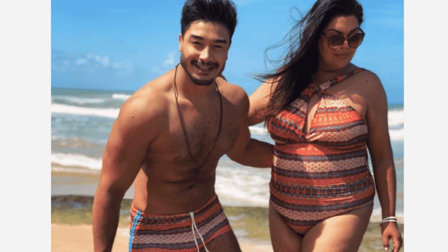 Fabiana Karla e o namorado, Diogo Mello - Reprodução/Instagram