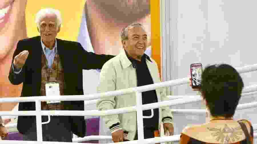 Ziraldo e Mauricio de Sousa na Bienal do Livro de São Paulo - Iwi Onodera/UOL