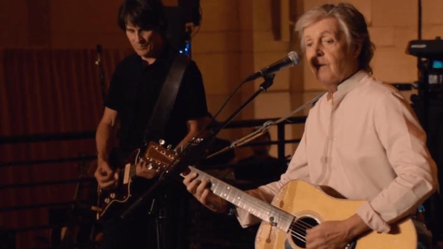 Paul McCartney fez show em Nova York que foi transmitido pelo YouTube - Reprodução