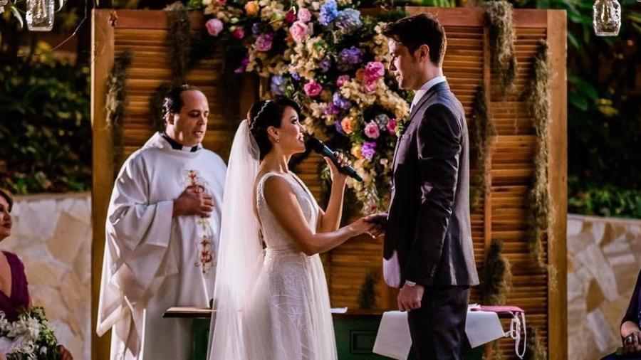 Geovanna Tominaga e Eduardo Duarte se casam no Rio de Janeiro - Reprodução/Instagram