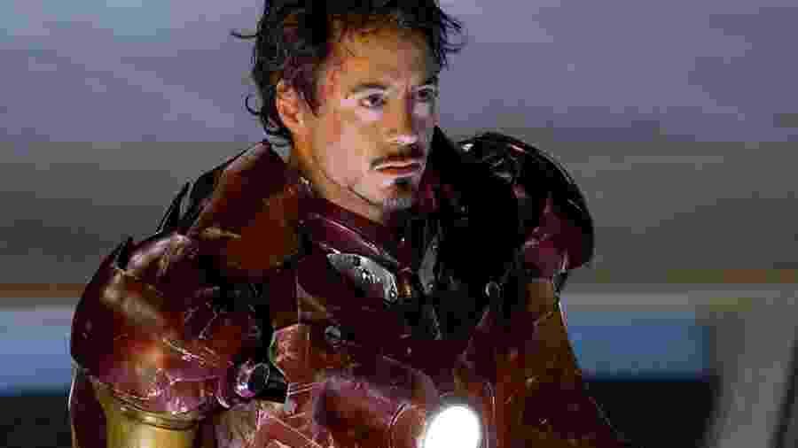 """Robert Downey Jr. em """"Iron Man"""" (2008) - Divulgação"""