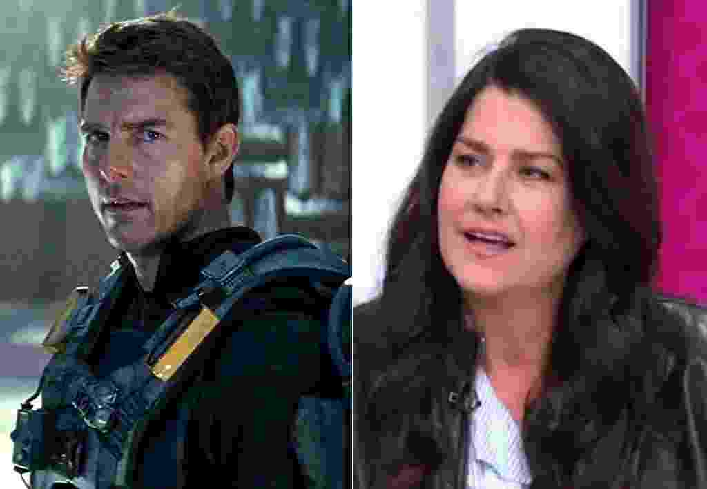 Tom Cruise e Cathy Schenkelberg - Montagem