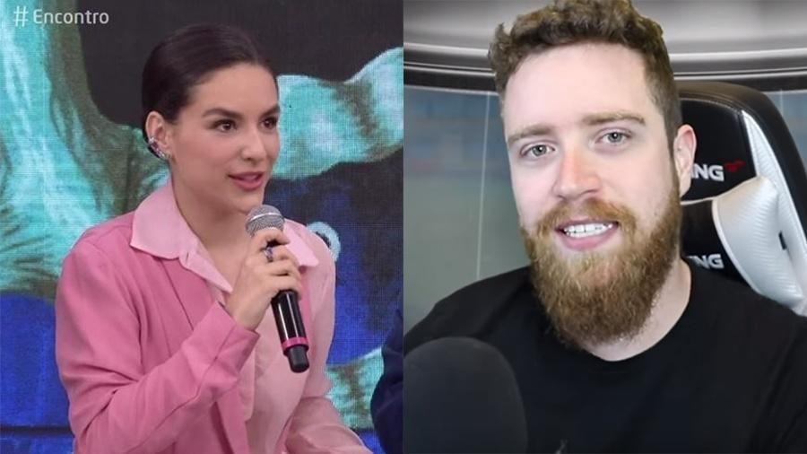 """Kéfera rebate youtuber Luba após ser criticada por debate no """"Encontro"""" sobre feminismo - Reprodução/Globo e Youtube"""