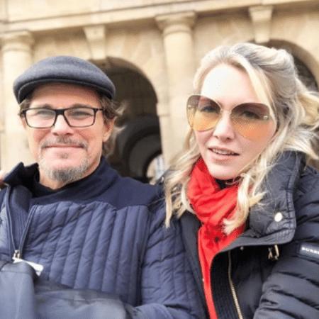 Edson Celulari e Karin Roepke durante férias na Europa - Reprodução/Instagram