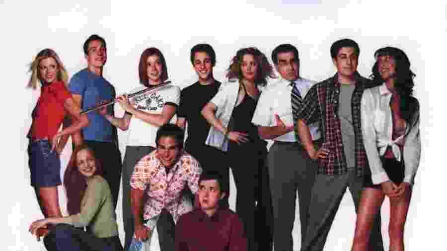 O elenco de American Pie em 1999 - Divulgação