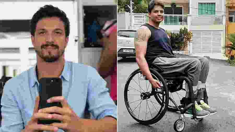 Romulo Estrela presenteou Carlos Souza com cadeira de rodas - Reprodução/Instagram