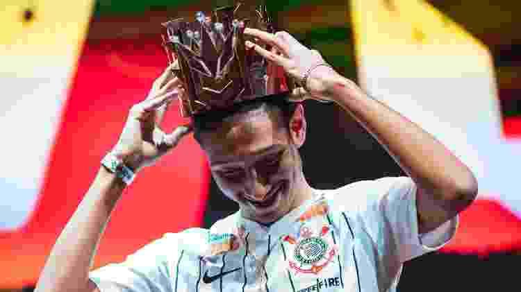 """""""LevelUp"""" do Corinthians, foi o MVP da Free Fire World Series, em novembro de 2019. - Divulgação/Garena"""
