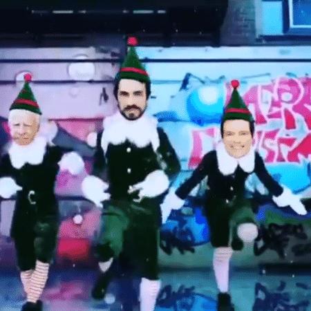Evaristo Costa faz vídeo de Natal com padre Fábio de Melo, Cid Moreira e Celso Portiolli - Reprodução/Instagram