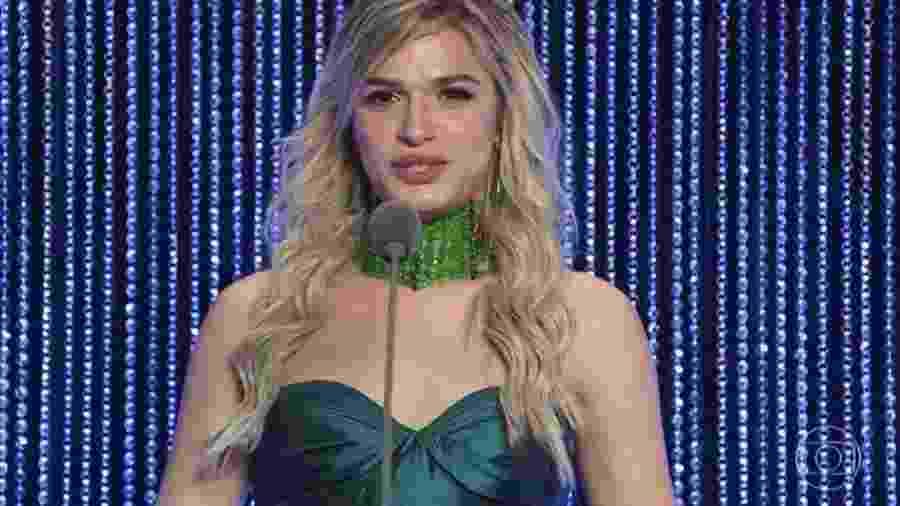 Glamour Garcia vence categoria atriz revelação - Reprodução/Globo
