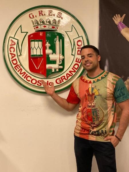O ator Pedro Carvalho aceitou o convite da Grande Rio e vai estrear na Sapucaí no Carnaval de 2020 - Divulgação/Grande Rio