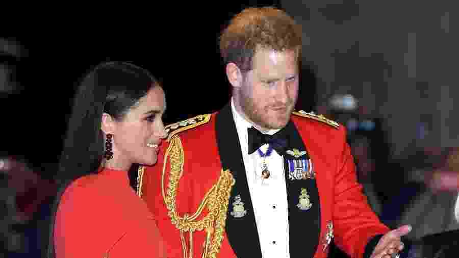 O príncipe Harry e Meghan Markle em aparição pública em Londres - Karwai Tang/WireImage