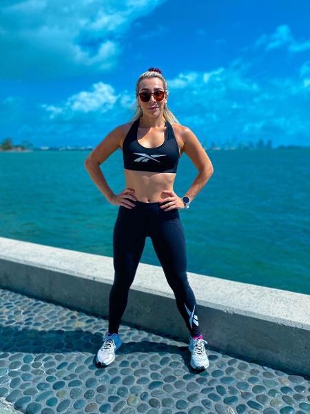 A atleta amadora Naty Graciano pratica CrossFit há três anos e é uma das referências da modalidade no país - Reprodução do Instagram @natygraciano