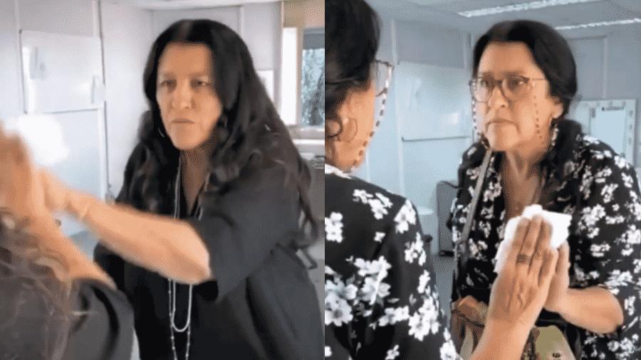 """Regina Casé entrou para o TikTok com corrente se transformando em Lurdes, protagonista de """"Amor de Mãe"""" - Reprodução/Instagram/@reginacase"""