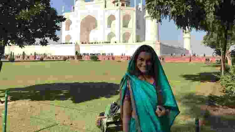 Silvinha chegou a passar alguns apuros em Deli, na Índia - Arquivo pessoal - Arquivo pessoal