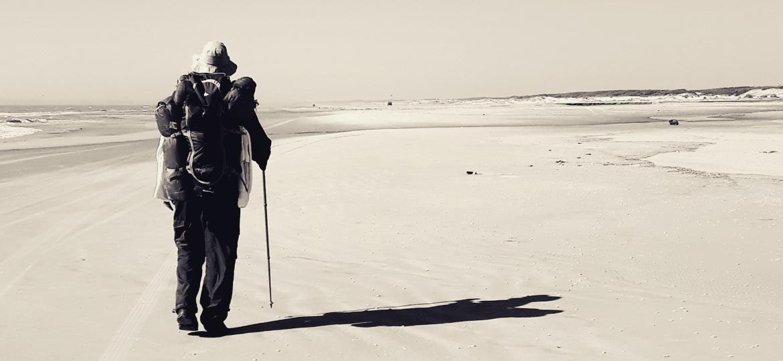 Gustavo Sbrana Sciotti percorreu todo o trajeto da Praia do Cassino, no extremo sul do Brasil - Arquivo pessoal