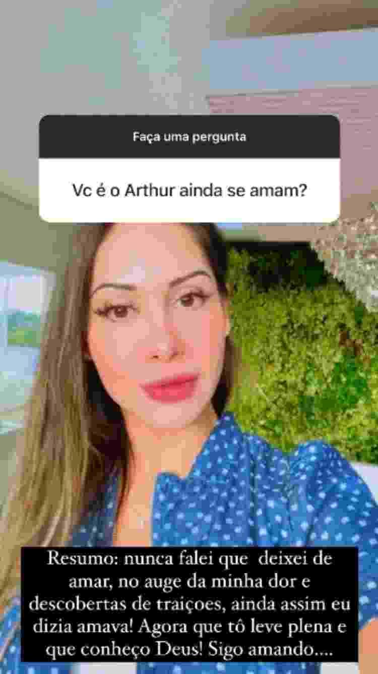 Mayra Cardi diz que ainda ama Arthur Aguiar - Reprodução/Instagram - Reprodução/Instagram
