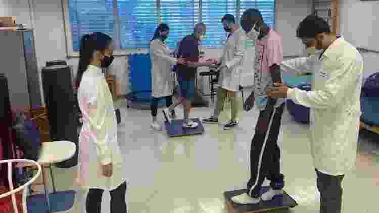 Atendimento de fisioterapia no Centro Universitário UniMetrocamp  - Divulgação/Centro Universitário UniMetrocamp  - Divulgação/Centro Universitário UniMetrocamp