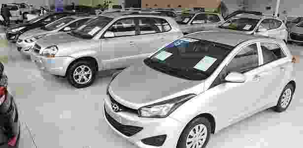 Showroom de usados em concessionária da Hyundai Caoa em São Paulo - Murilo Góes/UOL - Murilo Góes/UOL