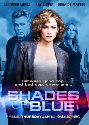 """Jennifer Lopez em pôster da série """"Shades of Blue"""" - Divulgação"""