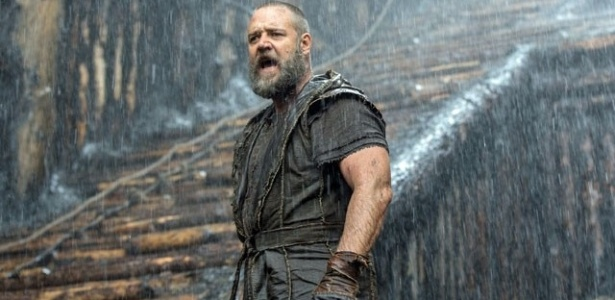 """Russell Crowe no filme """"Noé"""", que estreia na Globo nesta quarta (20) - Divulgação/TV Globo"""