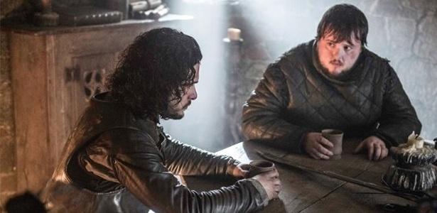 """Jon Snow e Sam em """"Game Of Thrones"""" - Divulgação"""
