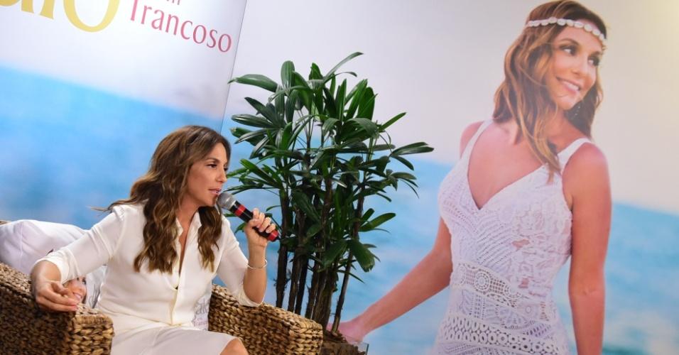 27.jul.2016 - Ivete Sangalo recebe a imprensa em São Paulo para falar sobre seu novo CD/DVD,
