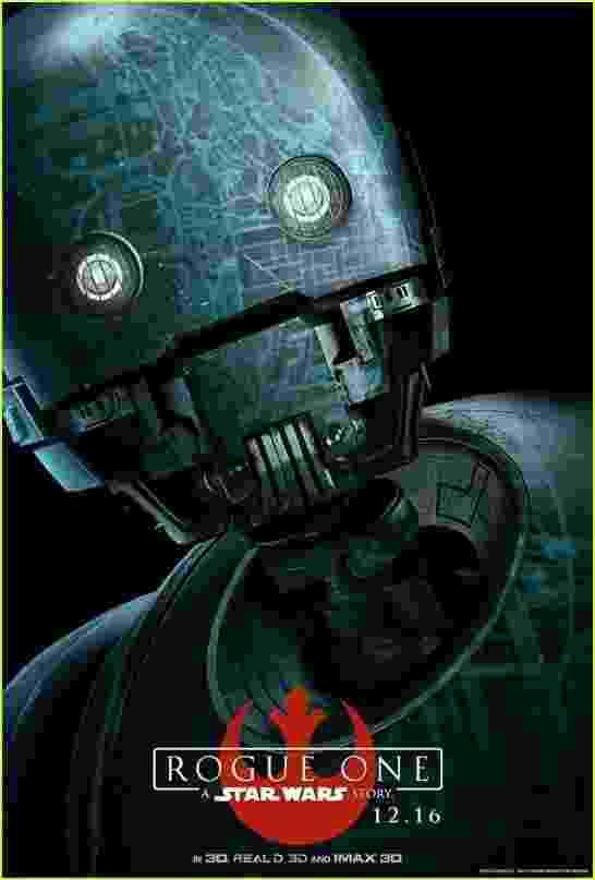 """Pôsteres individuais de """"Rogue One: Uma História de Star Wars"""" - Divulgação"""