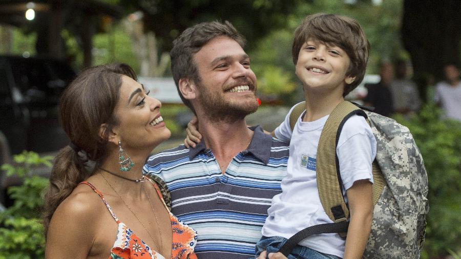 """Bibi (Juliana Paes), Rubinho (Emilio Dantas) e Dedé (João Bravo) em """"A Força do Querer"""" - Estevam Avellar/Divulgação/TV Globo"""
