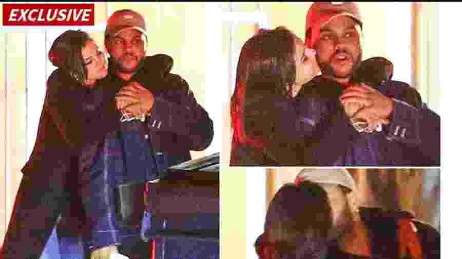 Selena Gomez e The Weekend são flagrados aos beijos pelo site TMZ  - Reprodução/TMZ