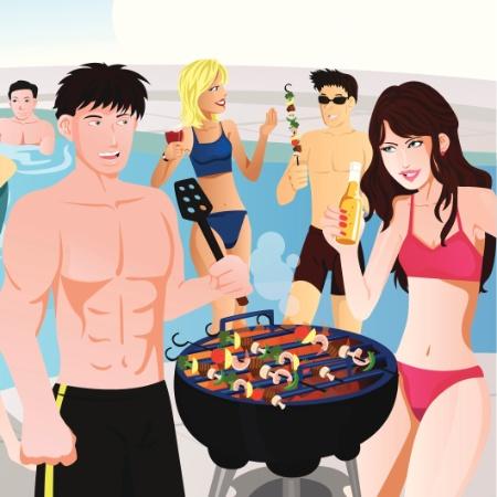 """Churrasco nesse calor? Se se for na casa do """"amigo com piscina"""" - Getty Images"""