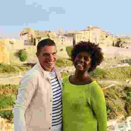 A atriz Adriana Alves com o marido, o chef Olivier Anquier - Divulgação