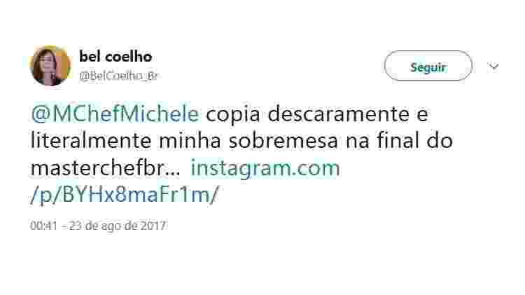 Reprodução/Twitter/BelCoelho_Br