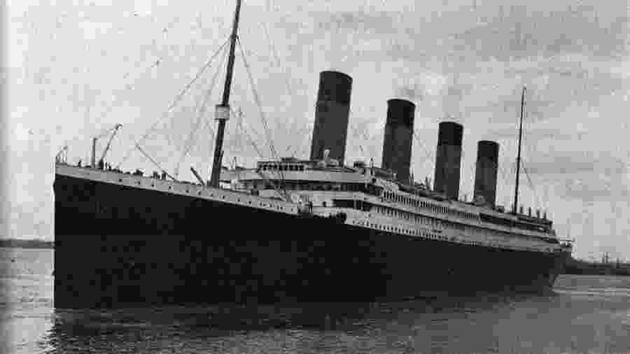 O navio Titanic - Reprodução