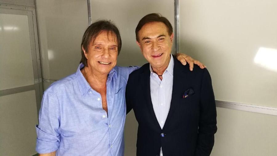 Roberto Carlos e Amaury Jr. - Divulgação