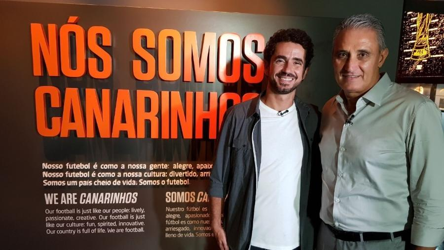 Felipe Andreoli e Tite - Divulgação