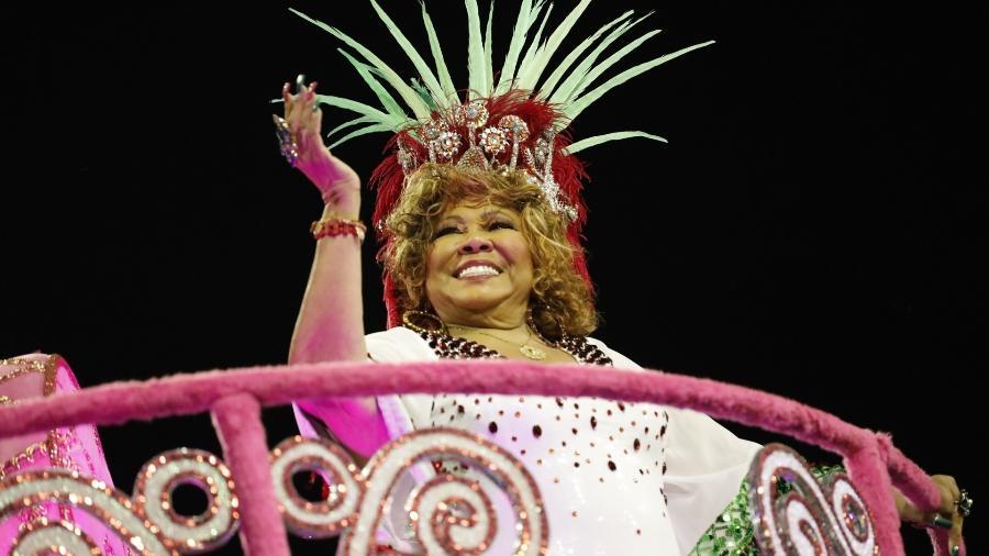 A cantora Alcione. homenageada pela Mocidade Alegre no Carnaval deste ano em São Paulo - Simon Plestenjak/UOL