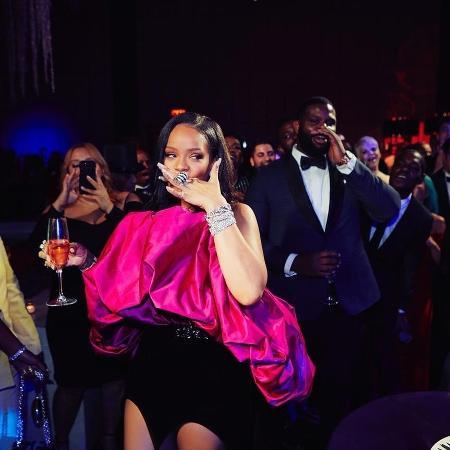 Rihanna em sua festa de aniversário de 30 anos - Reprodução/Instagram