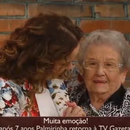"""Palmirinha se emocionou muito ao participar do """"Mulheres"""" - Reprodução/TV Gazeta"""
