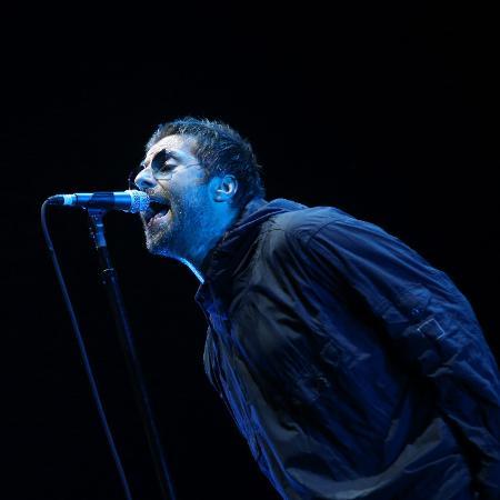 Liam Gallagher: interrompido por peixe no palco - Ricardo Matsukawa/UOL