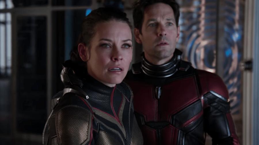 """Evangeline Lilly e Paul Rudd em cena de """"Homem-Formiga e a Vespa"""" - Reprodução"""