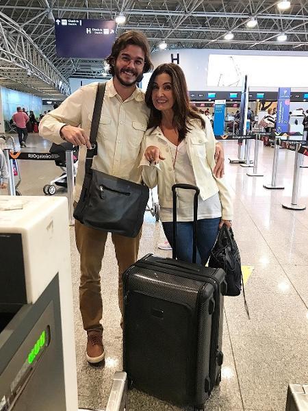 Túlio Gadêlha embarca com Fátima na primeira viagem internacional do casal - Reprodução/Instagram