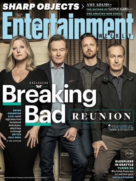 """Elenco de """"Breaking Bad"""" se reúne na capa da revista """"Entertainment Weekly"""" - Divulgação"""