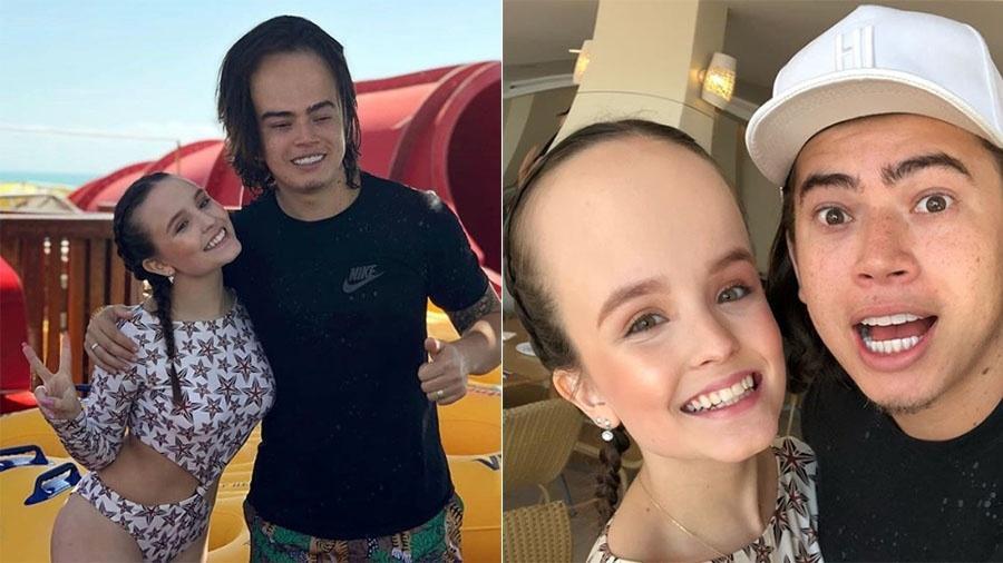 """Depois de brincar com a testa de Larissa Manoela, Whindersson posta outra imagem em que ele aparece de """"testão"""" - Reprodução/Instagram"""
