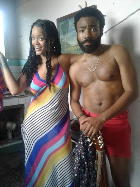 Rihanna e Donald Glover gravam filme em Havana, em Cuba - Reprodução